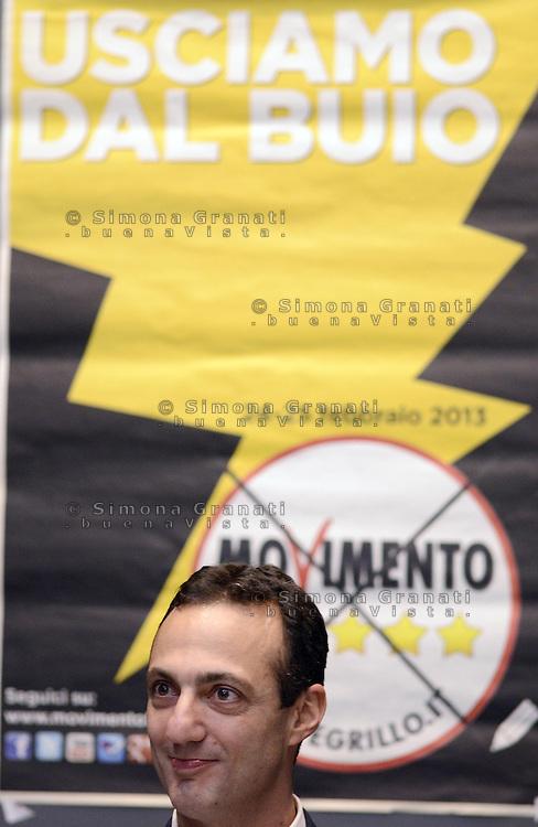 Roma, 22 Marzo 2013.Città dell'altra econimia..Il Movimento 5 Stelle presenta alla stampa Marcello De Vito  candidato a Sindaco di Roma