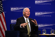 Washington, DC - February 14, 2017: U.S. Senator Ben Cardin speaks about U.S.-Russia relations during an event moderated by Carmel Martin, Executive Vice President, Center for American Progress Action Fund, at the Center for American Progress in the District of Columbia February 14, 2017.   (Photo by Don Baxter/Media Images International)