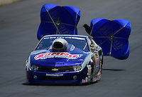 Jul, 22, 2012; Morrison, CO, USA: NHRA pro stock driver Jason Line during the Mile High Nationals at Bandimere Speedway. Mandatory Credit: Mark J. Rebilas-