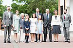 King Felipe VI, Queen Letizia, Menchu del Valle, Princess Sofia, Paloma Rocasolano, Princess Leonor, Konstantin of Bulgari, King Juan Carlos, Queen Sofia and Jesus Jose Ortiz pose to the media at First Communion of princess Sofia at Asuncion de Nuestra Senora Church in Madrid, May 17, 2017. Spain.<br /> (ALTERPHOTOS/BorjaB.Hojas)