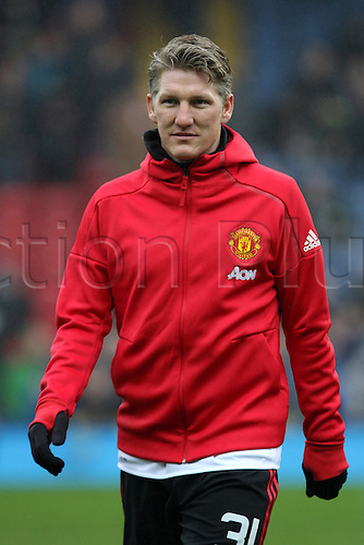 February 19th 2017, Blackburn, Lancashire, England; FA Cup 5th Round football, Blackburn Rovers versus Manchester United; Bastian Schweinsteiger of Manchester United before the match