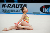 February 27, 2016 - Espoo, Finland - SON YEON-Jae of South Korea performs in All Around eventually taking silver at Espoo World Cup 2016.