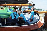 SKÛTSJESILEN: FRYSLÂN: SKS kampioenschap 2015, Skûtsje Woudsend schipper Teake Klaas van der Meulen, ©foto Martin de Jong