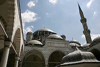 Sehzade (Princes) Mosque, Istanbul, Turkey: as viewed from the inner courtyard