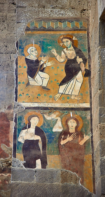 Romanesque Frescoes , Basilica Church of Santa Maria Maggiore, Tuscania