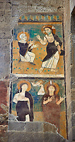 Romanesque Frescoes , Basilica Church of Santa Maria Maggiore, Tuscania