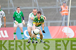 Kieran O'Leary tries to get past Stephen Lavin in the Muster Senior Semi final held in The Gaelic Grounds last Saturday evening.