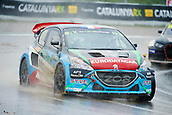 14th April 2018, Circuit de Barcelona-Catalunya, Barcelona, Spain; FIA World Rallycross Championship; Andrea Dubourg of the Andrea Dubourg Team in action during the very wet Q2