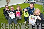 HELP THE KIDS: Killarney students from the Community College are helping Castleisland woman Catherine Brosnan's appeal for football boots for the children in Cambodia. Pictured were: Ellie Davis, David O'Sullivan, Louise O'Sullivan, PE teacher Brian O'Reilly with Catherine Brosnan.