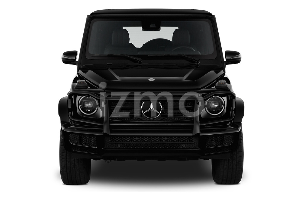 Car photography straight front view of a 2019 Mercedes Benz G-Class G-550 5 Door SUV