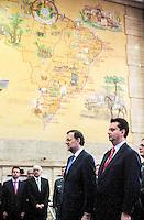 SAO PAULO, SP, 21 JUNHO 2012 - MARIANO LAROY EM SAO PAULO - O prefeito de Sao Paulo Gilberto Kassab durante audiencia com o Presidente do Governo da Espanha Mariano Rajoy na sede da Prefeitura de Sao Paulo, nesta quinta-feira, 21. (FOTO: VANESSA CARVALHO / BRAZIL PHOTO PRESS).