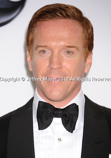 LOS ANGELES, CA - SEPTEMBER 23: Damian Lewis poses in the press room at the 64th Primetime Emmy Awards held at Nokia Theatre L.A. Live on September 23, 2012 in Los Angeles, California.