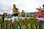 Kieran Donaghy Shane Enright Kerry team takes to the field before the Munster Senior Football Final at Fitzgerald Stadium on Sunday.