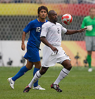 Marvell Wynne, Hiroyuki Taniguchi. The US defeated Japan, 1-0, during first round play in group B at the 2008 Beijing Olympics in Tianjin, China.