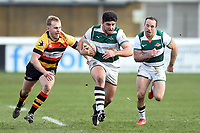 Matt Cornish of Ealing Trailfinders goes on the attack. Greene King IPA Championship match, between Richmond and Ealing Trailfinders on March 9, 2019 at the Richmond Athletic Ground in London, England. Photo by: Patrick Khachfe / Onside Images