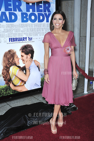 """Eva Longoria Parker at the Los Angeles premiere of her new movie """"Over Her Dead Body"""" at the Arclight Theatre, Hollywood..January 29, 2008  Los Angeles, CA.Picture: Paul Smith / Featureflash"""