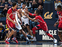 Berkeley, CA - December 30th, 2016:  CAL Men's Basketball's 62-67 loss to Arizona at Haas Pavilion.