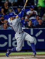 Chris Taylor, durante el partido de beisbol de los Dodgers de Los Angeles contra Padres de San Diego, durante el primer juego de la serie las Ligas Mayores del Beisbol en Monterrey, Mexico el 4 de Mayo 2018.<br /> (Photo: Luis Gutierrez)