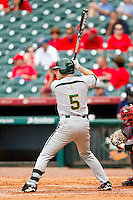 Landis Ware #5 of the Baylor Bears at bat against the Houston Cougars at Minute Maid Park on March 4, 2011 in Houston, Texas.  Photo by Brian Westerholt / Four Seam Images