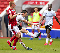 7th July 2020; City Ground, Nottinghamshire, Midlands, England; English Championship Football, Nottingham Forest versus Fulham; Harry Arter of Fulham shoots and scores for Fulham to make it 1-0 in first half stoppage time