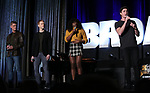 "Sean Allan Krill, Logan Hart, Celia Rose Gooding, Derek Klena  from the ""Jagged Little Pill""  during the BroadwayCON 2020 First Look at the New York Hilton Midtown Hotel on January 24, 2020 in New York City."