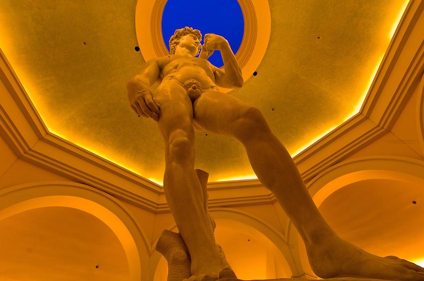 Statue of David, Caesar's Palace Las Vegas Hotel, The Strip, Las Vegas, Nevada USA