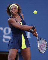 FLUSHING NY- SEPTEMBER 9: Serena Williams Vs Victoria Azarenka in the Womens  finals on Arthur Ashe Stadium at the USTA Billie Jean King National Tennis Center on September 9, 2012 in in Flushing Queens. Credit: mpi04/MediaPunch Inc. ***NO NY NEWSPAPERS*** /NortePhoto.com<br />