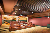 Large Private Home Theater With Wave Acoustic Ceiling