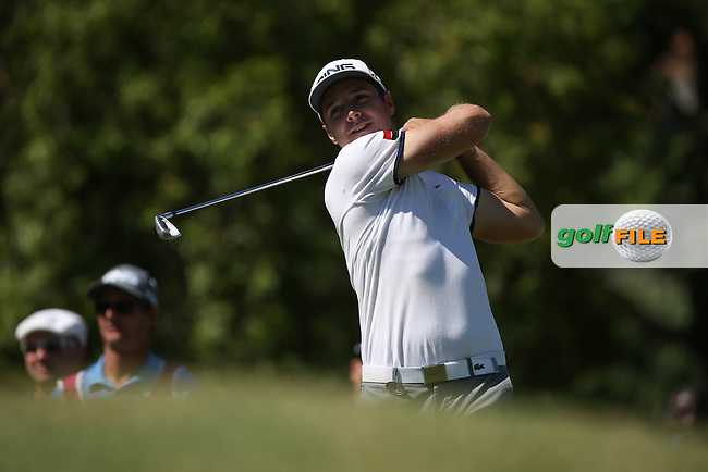 Julien Quesne (FRA) from the 17th during Round Two of the Tshwane Open 2015 at the Pretoria Country Club, Waterkloof, Pretoria, South Africa. Picture:  David Lloyd / www.golffile.ie. 13/03/2015
