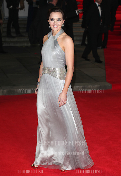 Victoria Pendleton arriving for the Royal World Premiere of 'Skyfall' at Royal Albert Hall, London. 23/10/2012 Picture by: Alexandra Glen / Featureflash