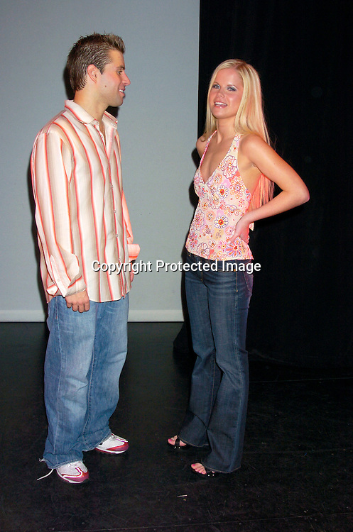 "Michael Minery and Crystal Hunt ..at a performance of "" Michael Minery's Tapaholics"", a part of the International Dance Fesival NYC on August 7, 2004 ..at the Duke Theatre. ..Photo by Robin Platzer, Twin Images"