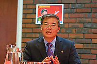 Ambassador to UK His Excellency Mr. Hyon Hak Bong of the Democratic People's Republic of Korea attending Saklatvala Hall's CPGBML Commemoration, celebrating the centenary of  Kim Il-sung's birth, Easter Sunday 2012 Southall