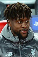 Divock Origi of Liverpool looks on<br /> <br /> Photographer Richard Martin-Roberts/CameraSport<br /> <br /> UEFA Champions League Group C - Liverpool v Crvena Zvezda - Wednesday 24th October 2018 - Anfield - Liverpool<br />  <br /> World Copyright © 2018 CameraSport. All rights reserved. 43 Linden Ave. Countesthorpe. Leicester. England. LE8 5PG - Tel: +44 (0) 116 277 4147 - admin@camerasport.com - www.camerasport.com