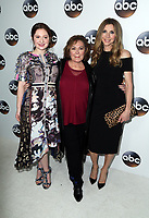 PASADENA, CA - JANUARY 8- Emma Kenney, Roseanne Barr, Sarah Chalke, at Disney ABC Television Group Hosts TCA Winter Press Tour 2018 at the Langham Hotel in Pasadena, California on January 8, 2018. <br /> CAP/MPI/FS<br /> &copy;FS/MPI/Capital Pictures