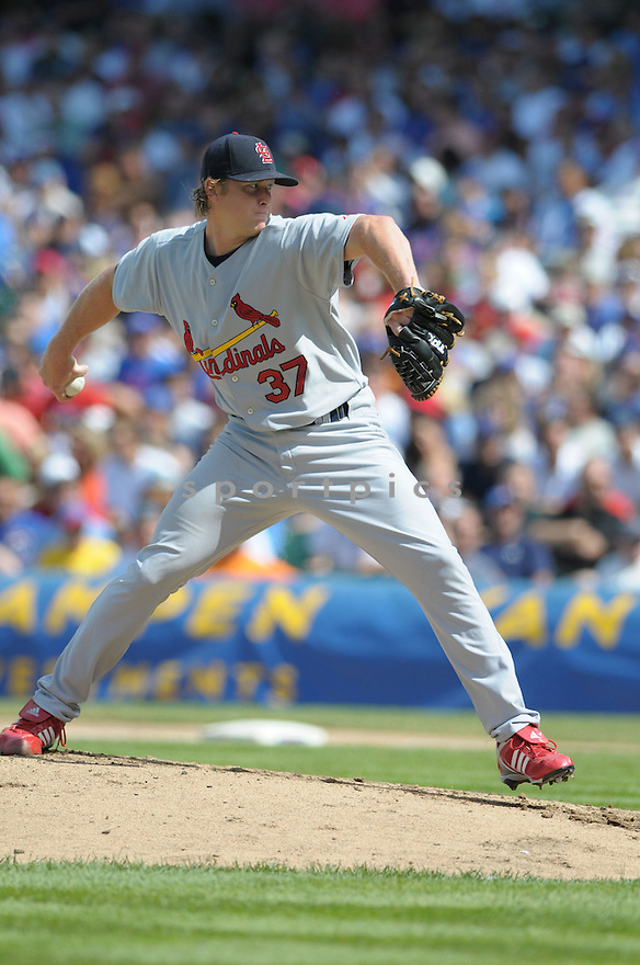 TODD WELLEMEYER, of the St. Louis Cardinals  in action against the Chicago Cubs during the Cardinals game in Chicago, IL on August 9,  2008... The Cardinals won the game 12-3.