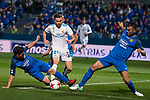 Fuenlabrada Fran Garcia and Armando Lozano and Real Madrid Borja Mayoral during Copa del Rey match between Fuenlabrada and Real Madrid at Fernando Torres Stadium in Madrid, Spain. October 26, 2017. (ALTERPHOTOS/Borja B.Hojas)