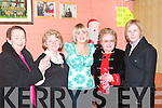FINE: In fine form for women's Christmas in Quilter's bar, Lixnaw on Sunday night, were l-r: Eileen Dore McCarthy, Mary O'Sullivan, Nicola Hughes, Noreen Savage and Susan Keane, all from Lixnaw..   Copyright Kerry's Eye 2008