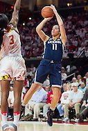 College Park, MD - DEC 29, 2016: Connecticut Huskies guard Kia Nurse (11) hits a jump shot over Maryland Terrapins guard Kaila Charles (3) during game between No. 1 UConn and the No. 3 Terrapins at the XFINITY Center in College Park, MD. UConn defeated Maryland 87-81. (Photo by Phil Peters/Media Images International)