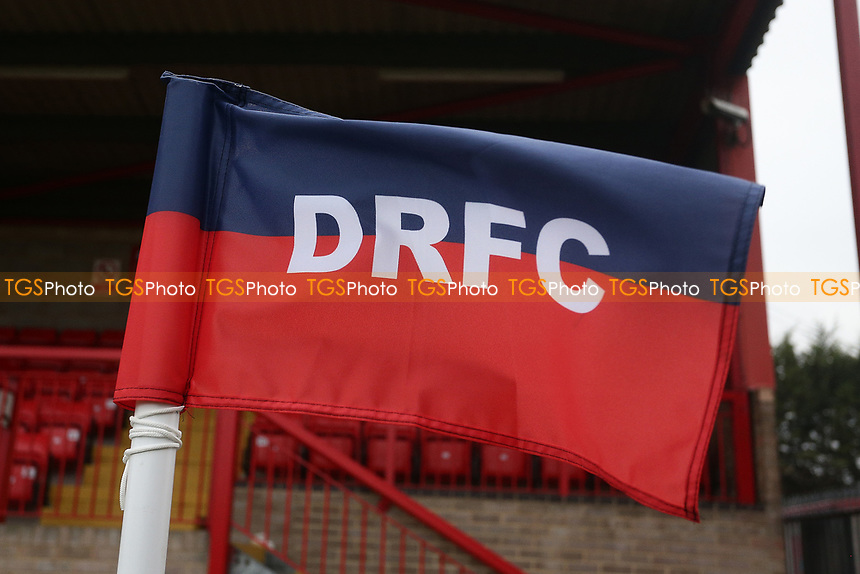 Corner flag during Dagenham & Redbridge vs Boreham Wood, Vanarama National League Football at the Chigwell Construction Stadium on 5th January 2019