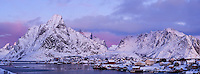 Reine in winter, Moskenesøy, Lofoten islands, Norway