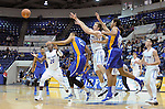 January 2, 2016 - Colorado Springs, Colorado, U.S. -  Falcon and Spartan players react to a loose ball during an NCAA basketball game between the San Jose State Spartans and the Air Force Academy Falcons at Clune Arena, U.S. Air Force Academy, Colorado Springs, Colorado.  Air Force defeats San Jose State 64-57.