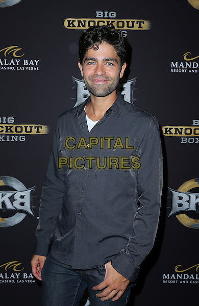 16 August 2014 - Las Vegas, Nevada - Adrian Grenier. Big Knockout Boxing Inaugural Event Celebrity Red Carpet at Mandalay Bay Events Center.   <br /> CAP/ADM/MJT<br /> &copy; MJT/AdMedia/Capital Pictures