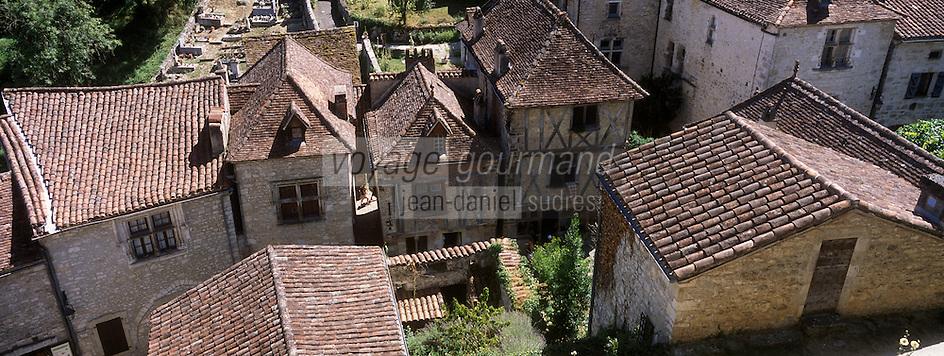 Europe/France/Midi-Pyrénées/46/Lot/Saint-Cirq-Lapopie: les maisons du village - Les Plus Beaux Villages de France