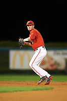 Ohio State Buckeyes shortstop Craig Nennig (7) during a game against the Pitt Panthers on February 20, 2016 at Holman Stadium at Historic Dodgertown in Vero Beach, Florida.  Ohio State defeated Pitt 11-8 in thirteen innings.  (Mike Janes/Four Seam Images)