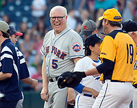 United States Representative Joe Crowley (Democrat of New York) with his colleagues before the 56th Annual Congressional Baseball Game for Charity where the Democrats play the Republicans in a friendly game of baseball at Nationals Park in Washington, DC on Thursday, June 15, 2017. Photo Credit: Ron Sachs/CNP/AdMedia