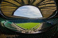 A general view of Twickenham, home of England Rugby<br /> <br /> Photographer Bob Bradford/CameraSport<br /> <br /> Quilter Internationals - England v Ireland - Saturday August 24th 2019 - Twickenham Stadium - London<br /> <br /> World Copyright © 2019 CameraSport. All rights reserved. 43 Linden Ave. Countesthorpe. Leicester. England. LE8 5PG - Tel: +44 (0) 116 277 4147 - admin@camerasport.com - www.camerasport.com