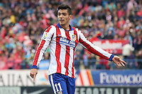 Atletico Madrid´s Mexican forward Raul Jimenez