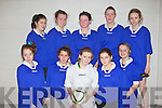 Pictured at the Futsal Indoor Soccer Competition at Mounthawk on Thursday is the Listowel Community College team, front row l-r: Lucy Shine, Zoe O'Gorman,  Julianne McCarthy, Kelly Broderick, Shauna Brouder.  Back row l-r: Sabrina Loughnane, Megan Fealy, Shannon O'Hanlon, Alison Enridgt and Cliona Griffin.