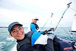 ISAF Sailing World Cup Hy&egrave;res - F&eacute;d&eacute;ration Fran&ccedil;aise de Voile. Nacra17, Moana Vaireaux<br /> Manon Audinet.w