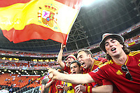 Fans of the national football team of Spain.